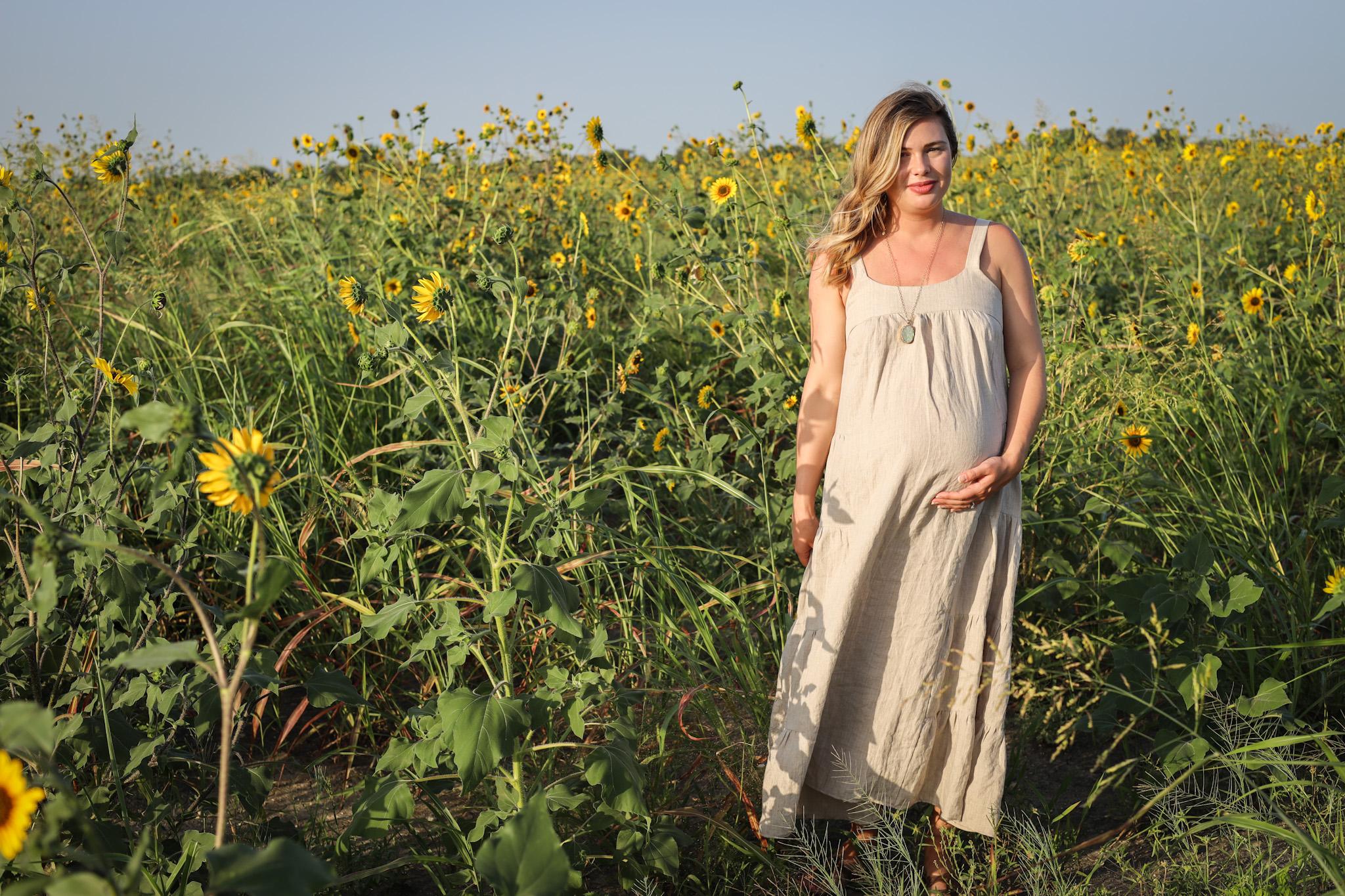 maternity friendly linen marcel dress